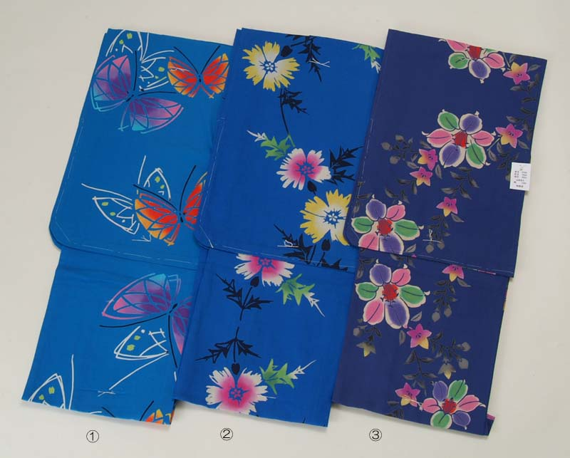 ◇Small cloth Japan sewing yukata set Lady's retro mail order woman woman thing yukata Zone clogs three points set made in summer festival small shark Japan for special size ◇ (small size) 注染 Lady's yukata woman
