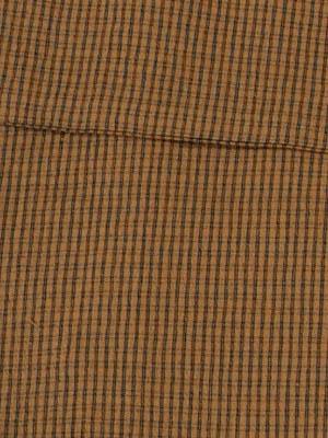 女浴衣 夏着物 綿ちりめん (茶色地に格子) S・L 日本製 レディースゆかた トッカ
