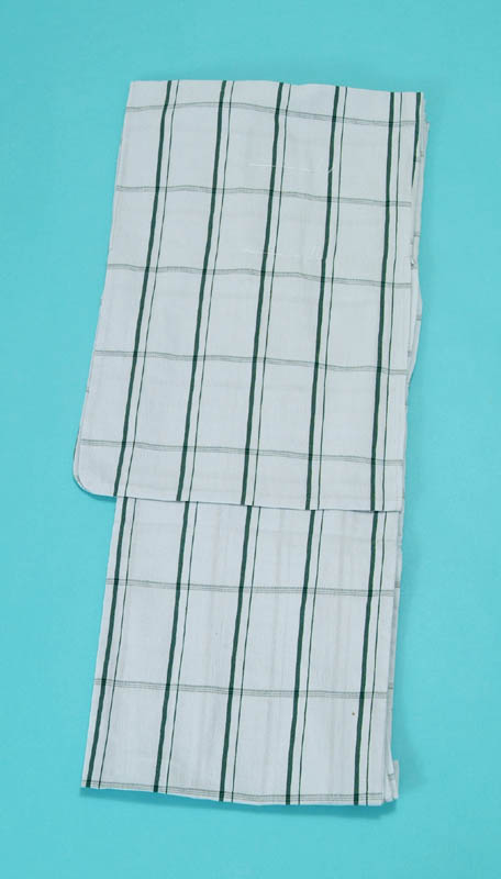 女浴衣 夏着物 綿ちりめん (淡い水色地・格子) S・L 日本製 レディースゆかた トッカ