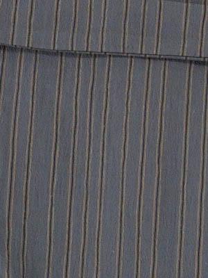女浴衣 夏着物 綿ちりめん (濃いグレー地に縞) S・L 日本製 レディースゆかた トッカ