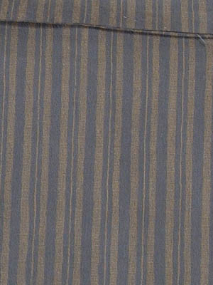 送料無料 女浴衣 夏着物 綿ちりめん (濃いグレー地に縞) S・L 日本製 レディースゆかた