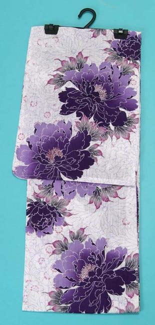 送料無料 Luxjewelラグジュエル ブランド浴衣 (紫の花) 浴衣セット レディース レトロ 通販 女 浴衣帯 下駄 浴衣3点セット(3点セット)にも対応 メール便不可