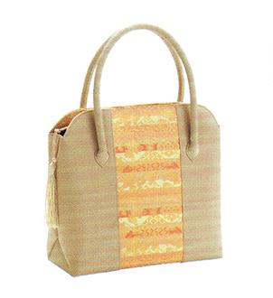 有職 和装小物 トートバッグ房付(No.36型) ベージュ 有職 YU-SOKU 掲載 着物 バッグ 和装小物 女性 レディース ポイント20倍