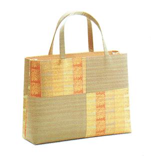 有職 和装小物 トートバッグ横長(市松取型) ベージュ 有職 YU-SOKU 掲載 着物 バッグ 和装小物 女性 レディース ポイント20倍