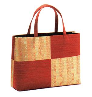 有職 和装小物 トートバッグ横長(市松取型) 朱 有職 YU-SOKU 掲載 着物 バッグ 和装小物 女性 レディース ポイント20倍