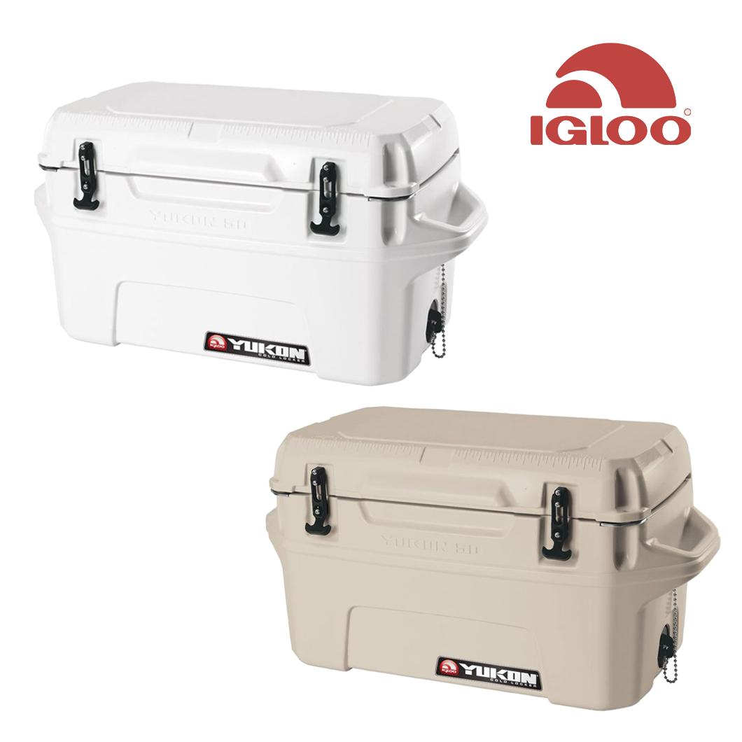 IGLOO(イグルー) YUKON50 イグルーユーコン50 クーラーボックス アメリカ製 (ホワイト、タン)