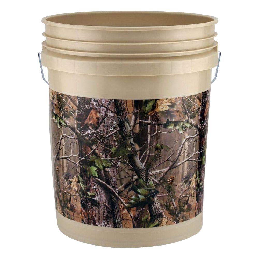 人気のカモフラージュ realtree柄のアメリカ製バケツ 正規取扱店 LEAKTITE USA5ガロンバケツ リアルツリー 買収 アメリカ製バケット