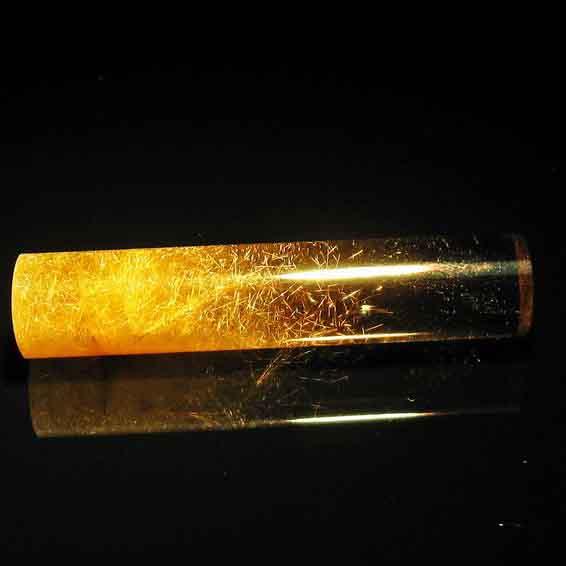 ルチルクォーツ 印材 水晶 12mm 147-12