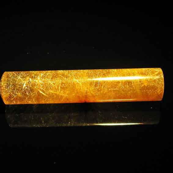 ルチルクォーツ 印材 水晶 12mm 147-16