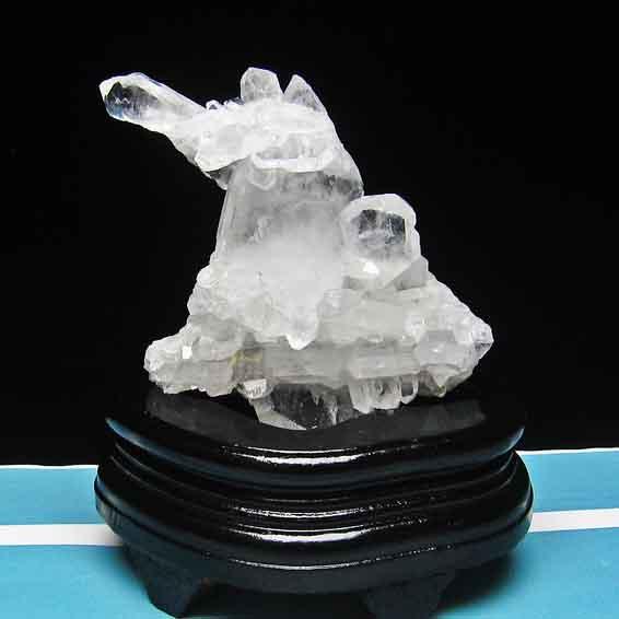 水晶 クラスター クリスタルクォーツ 原石 アメリカ産 ファーデンクォーツ入り [送料無料] 182-105