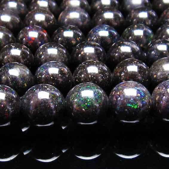 ブラックオパール 一連 10mm [送料無料] 714-78
