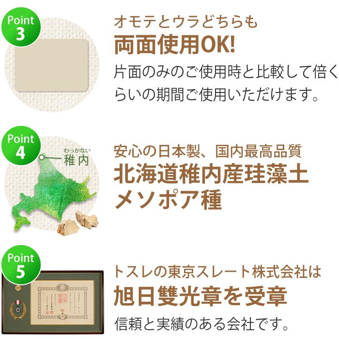 トスレ珪藻土マットはここがスゴイ!両面使用OK日本製