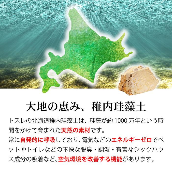 トスレ珪藻土は北海道稚内産