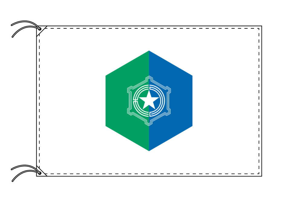 札幌市の市旗(北海道・道庁所在地)(サイズ:100×150cm)テトロン製・日本製