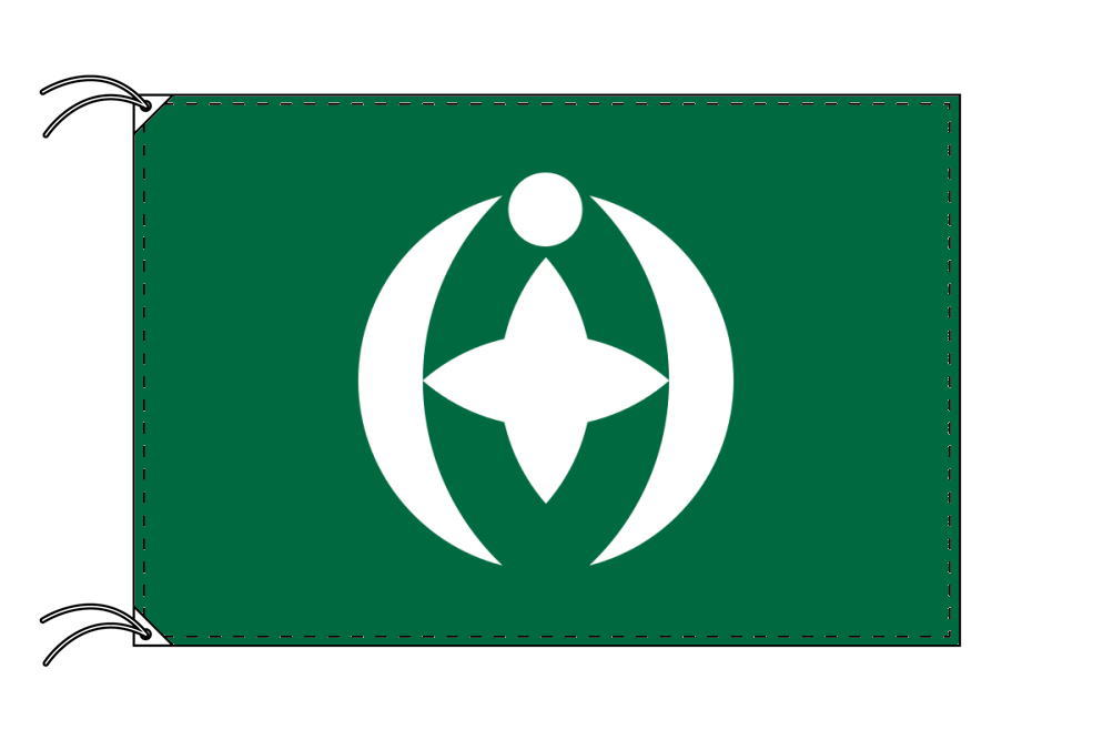 千葉市の市旗(千葉県・県庁所在地)(サイズ:100×150cm)テトロン製・日本製