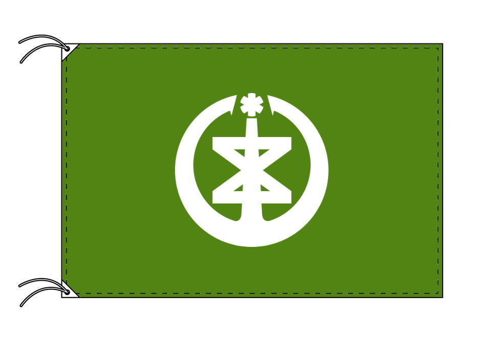 新潟市の市旗(新潟県・県庁所在地)(サイズ:120×180cm)テトロン製・日本製