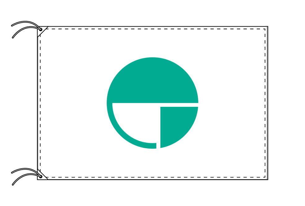 長野市の市旗(長野県・県庁所在地)(サイズ:90×135cm)テトロン製・日本製