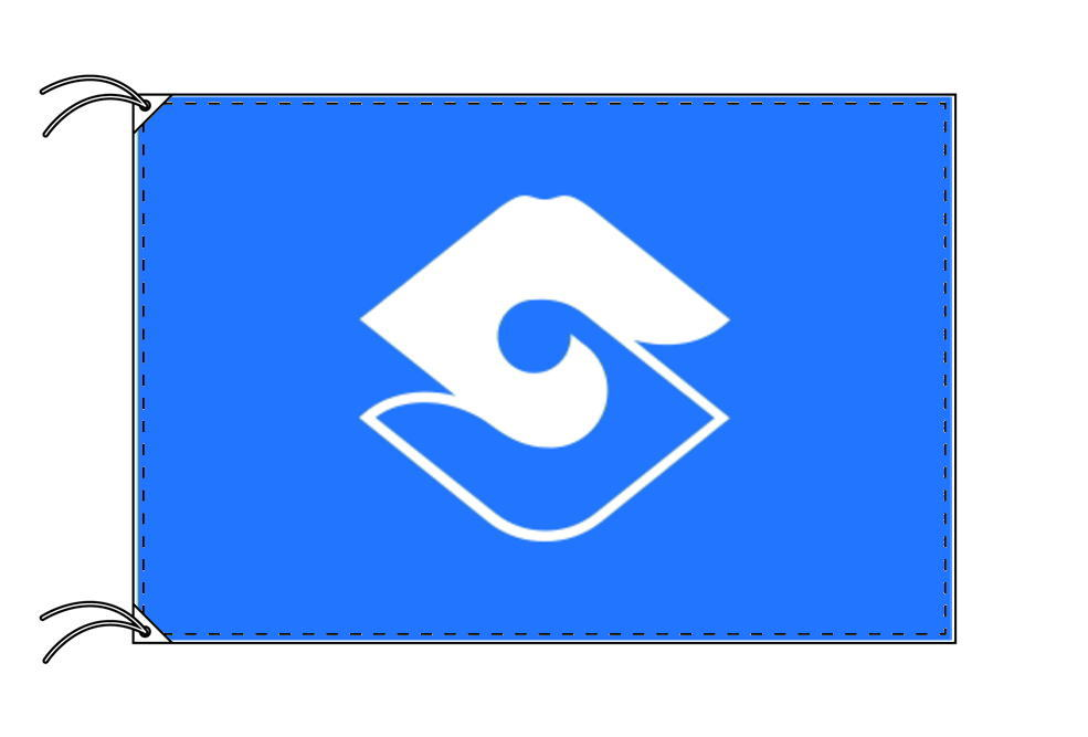 静岡市の市章(静岡県・県庁所在地)(サイズ:120×180cm)テトロン製・日本製