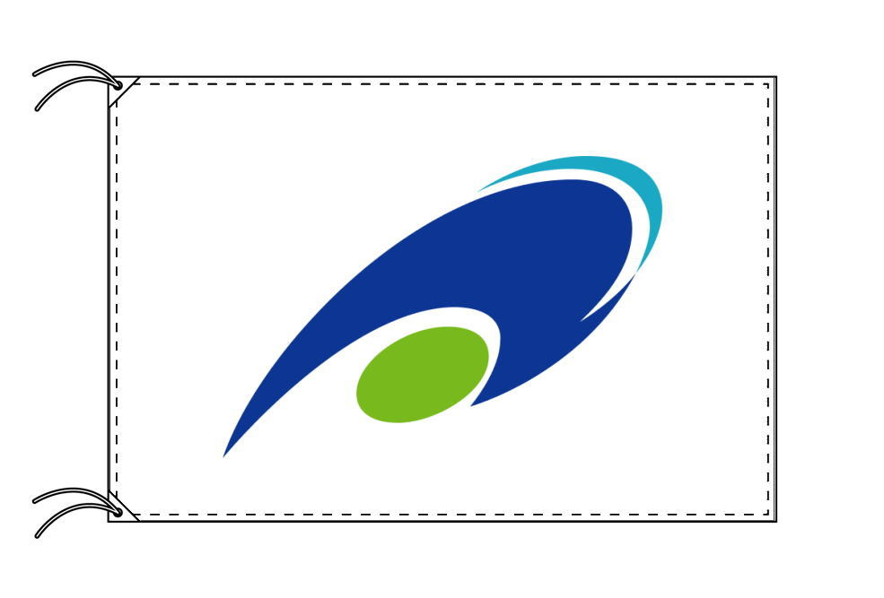 津市の市旗(三重県・県庁所在地)(サイズ:120×180cm)テトロン製・日本製