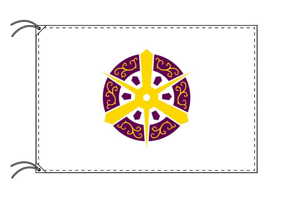 京都市の市旗(京都府・府庁所在地)(サイズ:90×135cm)テトロン製・日本製