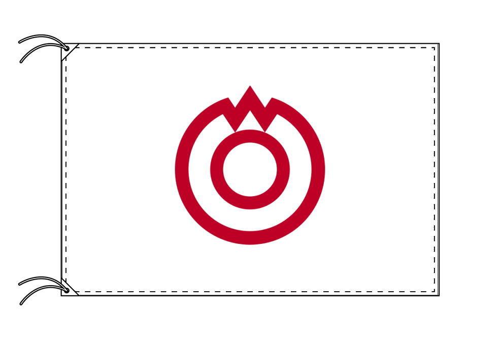 山口市の市旗(山口県・県庁所在地)(サイズ:100×150cm)テトロン製・日本製