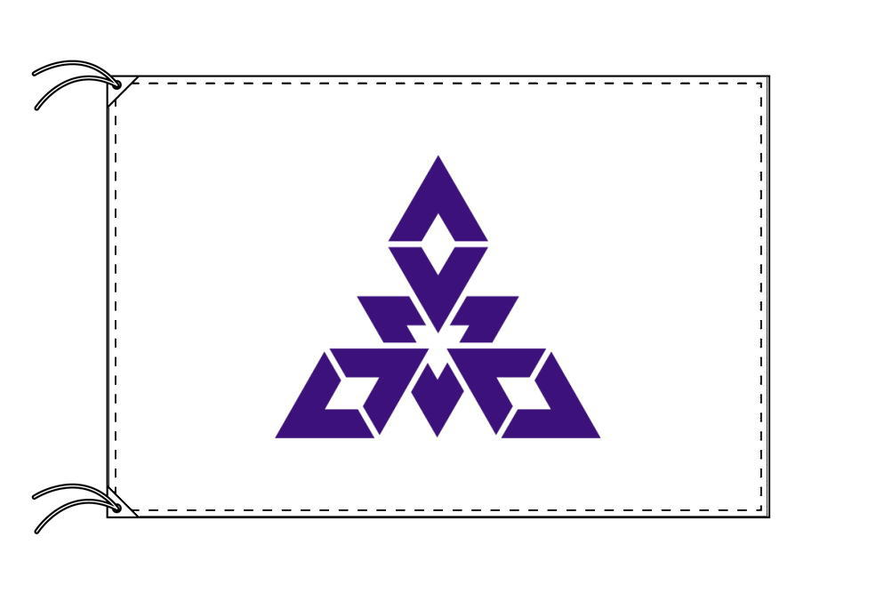 福岡市の市旗(福岡県・県庁所在地)(サイズ:120×180cm)テトロン製・日本製