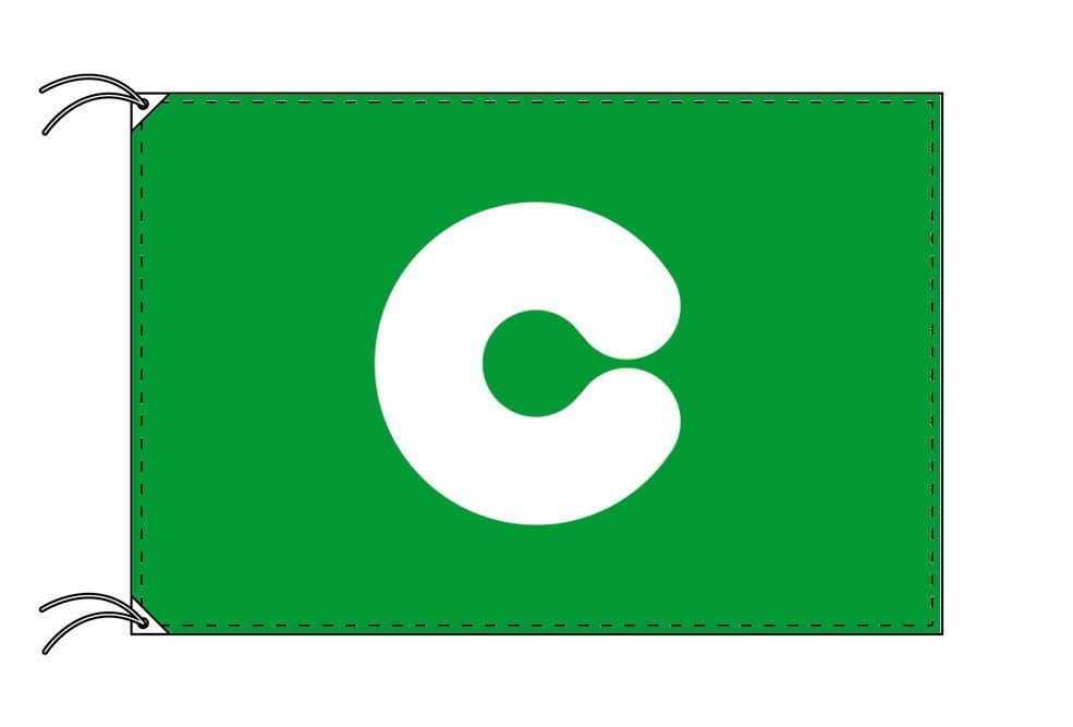 熊本市の市旗(熊本県・県庁所在地)(サイズ:100×150cm)テトロン製・日本製