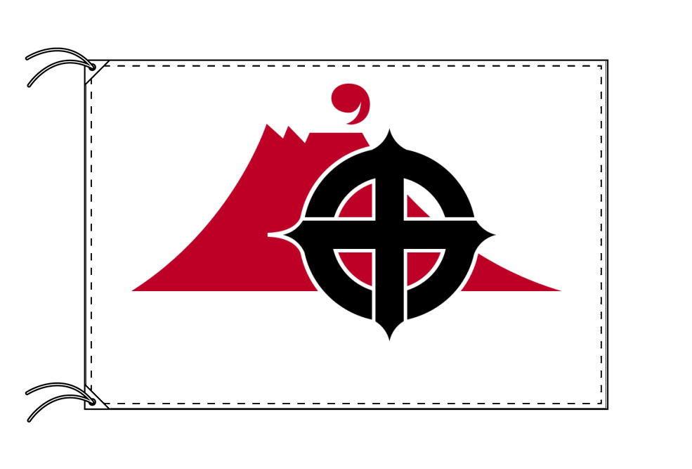 鹿児島市の市旗(鹿児島県・県庁所在地)(サイズ:100×150cm)テトロン製・日本製