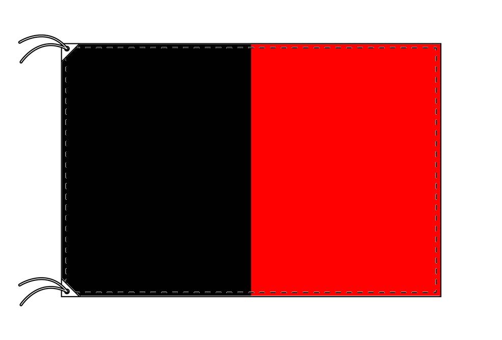 イタリア・州旗 ヴァッレ・ダオスタ州(100×105cm・高級テトロン製・日本製)