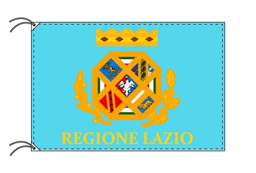 イタリア・州旗 ラツィオ州(70×105cm・高級テトロン製・日本製)