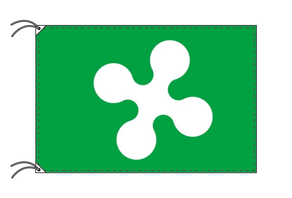 イタリア・州旗 ロンバルディア州(100×105cm・高級テトロン製・日本製)