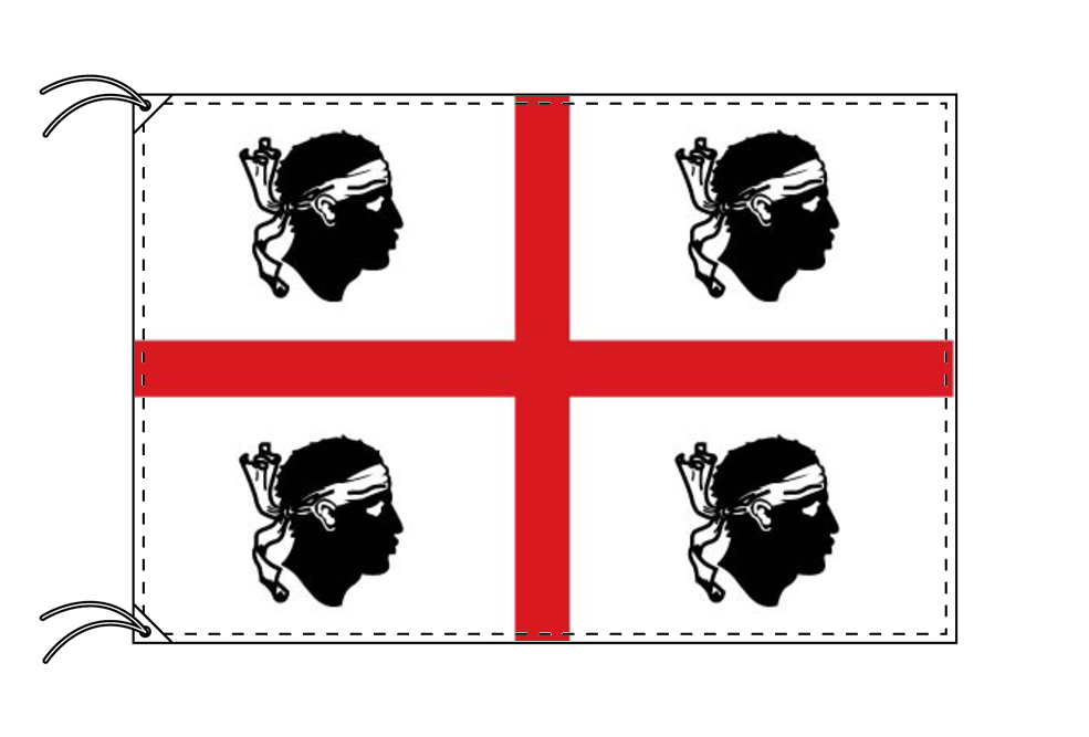 イタリア・州旗 サルデーニャ州(90×105cm・高級テトロン製・日本製)
