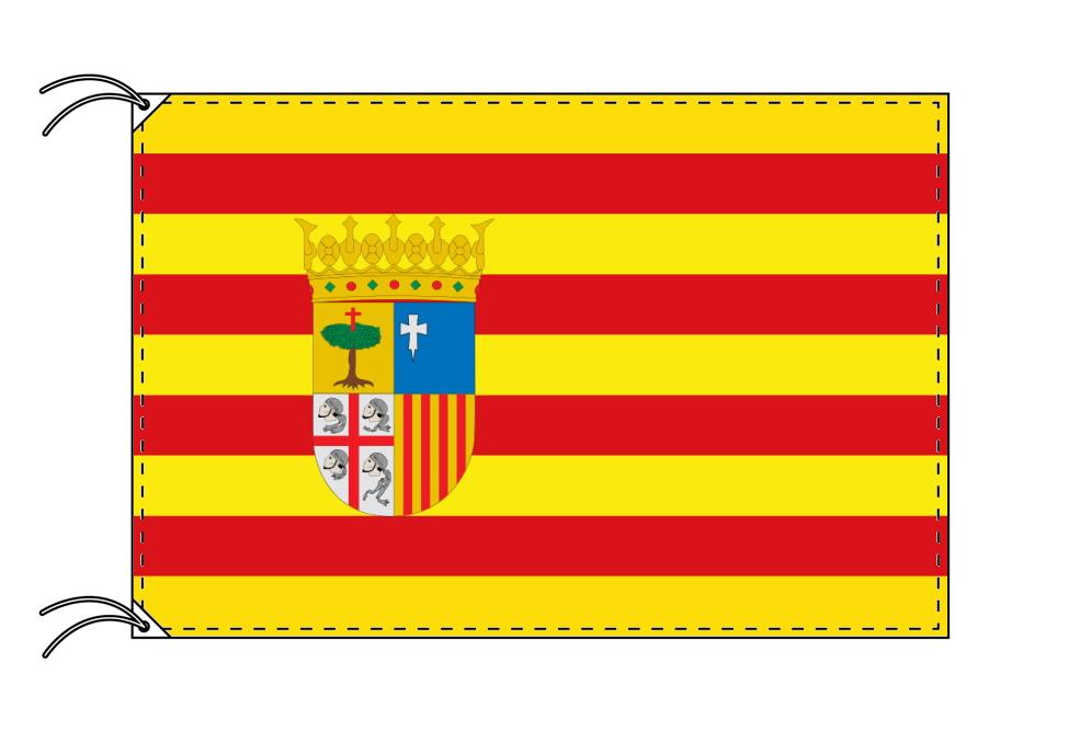 スペイン・自治州旗 アラゴン州(100×150cm・高級テトロン・日本製)