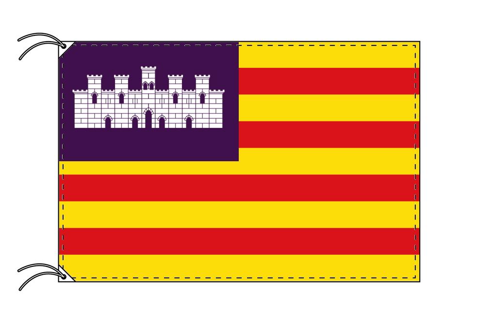 スペイン・自治州旗 バレアレス諸島州(120×180cm・高級テトロン・日本製)