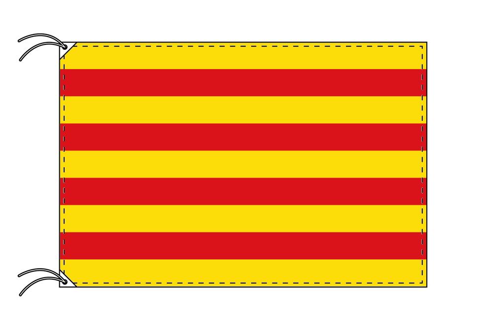 スペイン・自治州旗 カタルーニャ州(120×180cm・高級テトロン・日本製)