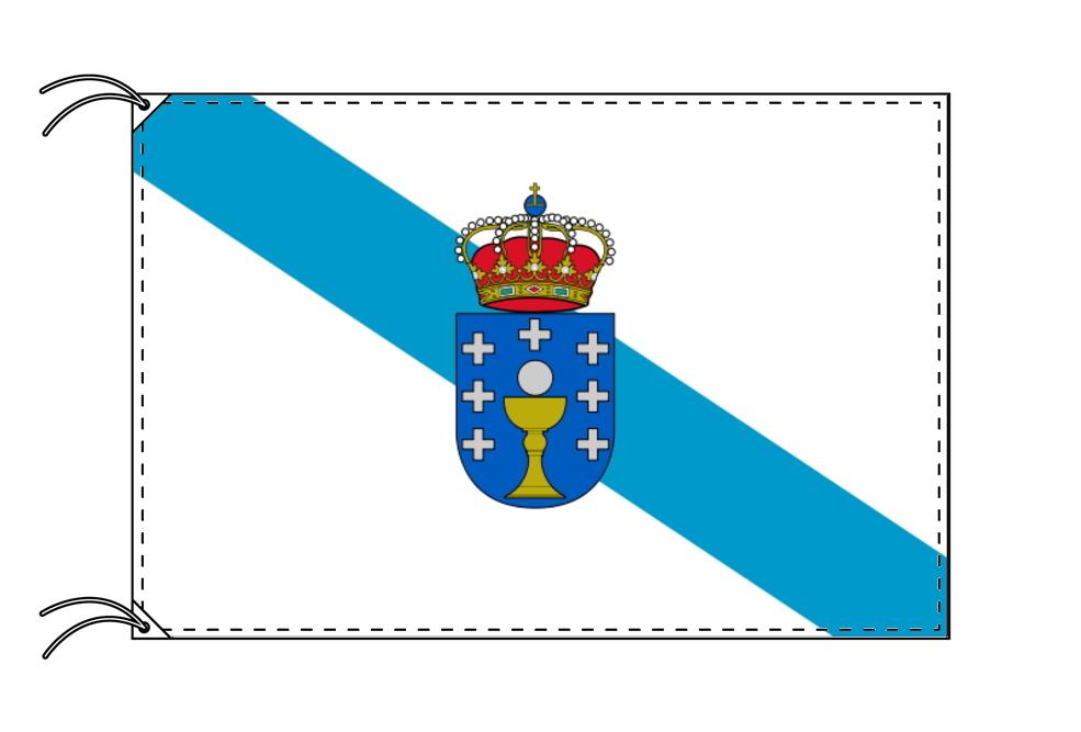 スペイン・自治州旗 ガリシア州(70×105cm・高級テトロン・日本製)