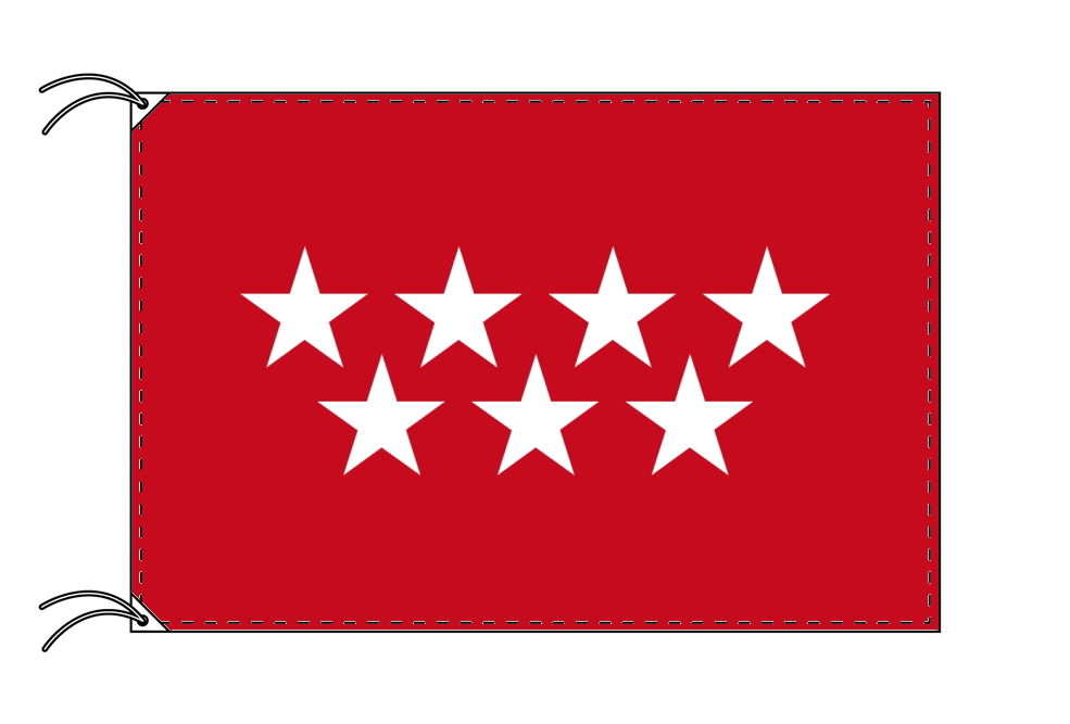 スペイン・自治州旗 マドリード州(100×150cm・高級テトロン・日本製)