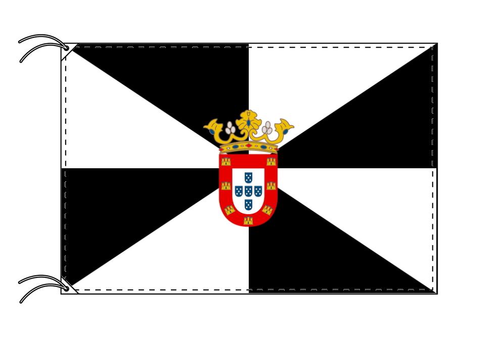スペイン・自治州旗 自由都市 セウタの旗(120×180cm・高級テトロン・日本製)
