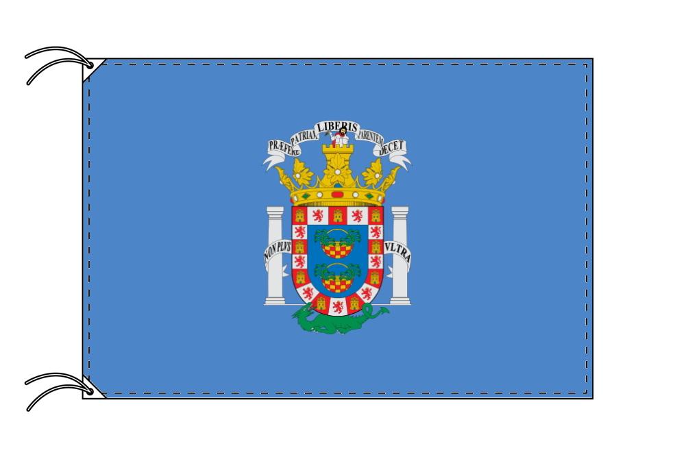 スペイン・自治州旗 自由都市 メリージャの旗(120×180cm・高級テトロン・日本製)