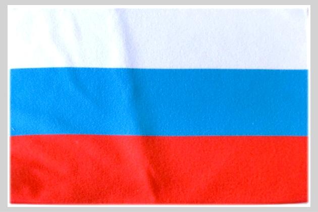 吸水抜群・速乾のマイクロファイバー製ミニタオル兼用クリーナークロス 世界の国旗 ミニタオル・ハンドタオル ロシア国旗柄(素早い吸水・速乾のマイクロファイバー生地)ミニメガネ拭き・スマホ・タブレット・レンズクリーナークロス