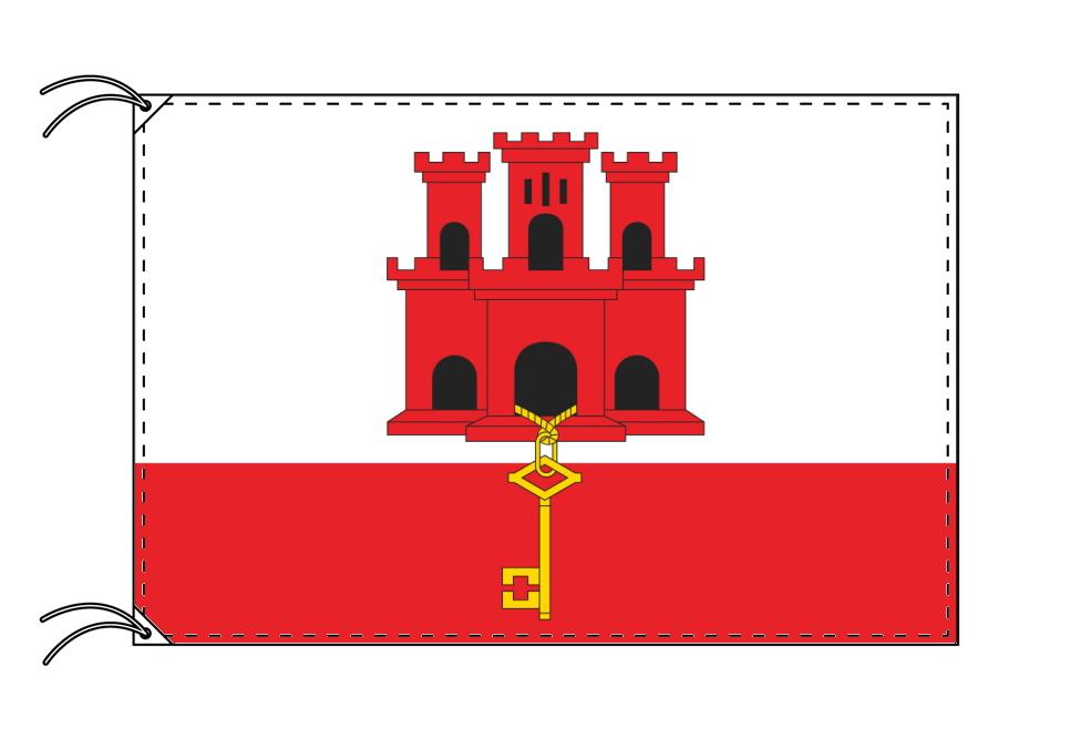 イギリス海外領の旗 ジブラルタルの旗(140×210cm)【受注生産】