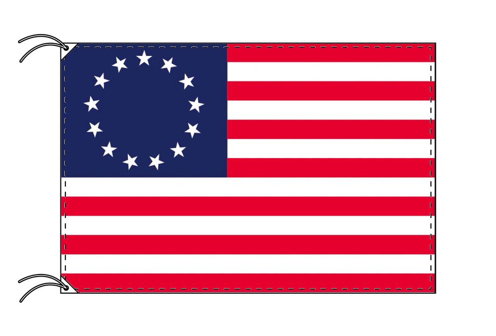 アメリカ 国旗 13州旗 独立時の星条旗(1777年)[100×150cm・高級テトロン製]受注生産