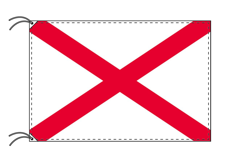 聖パトリック 国旗 アイルランド[90×135cm・高級テトロン製]受注生産