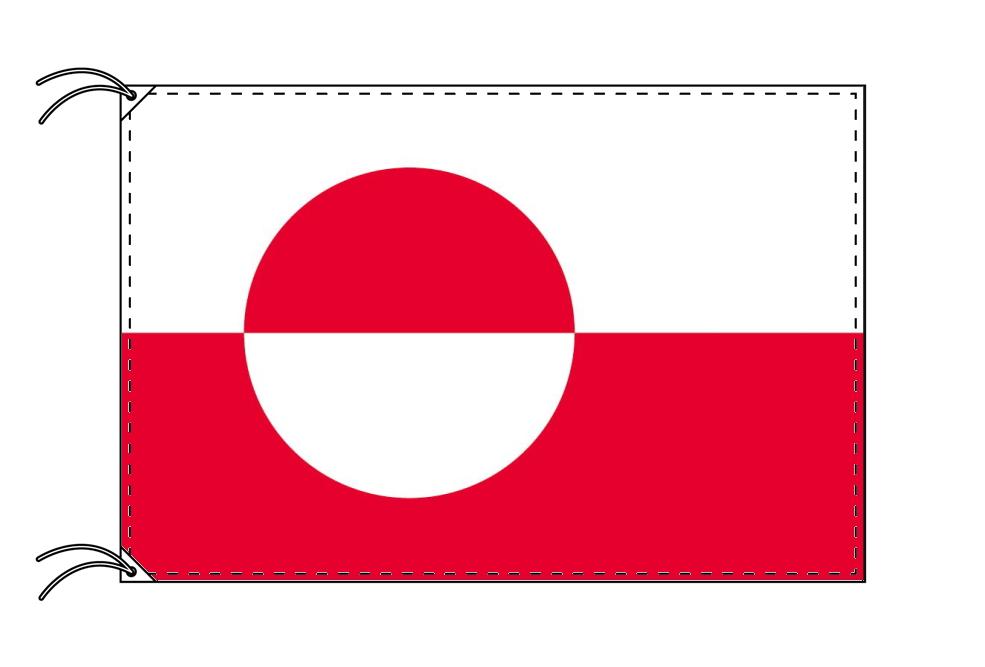 グリーンランド 国旗 デンマーク領[100×150cm・高級テトロン製]受注生産