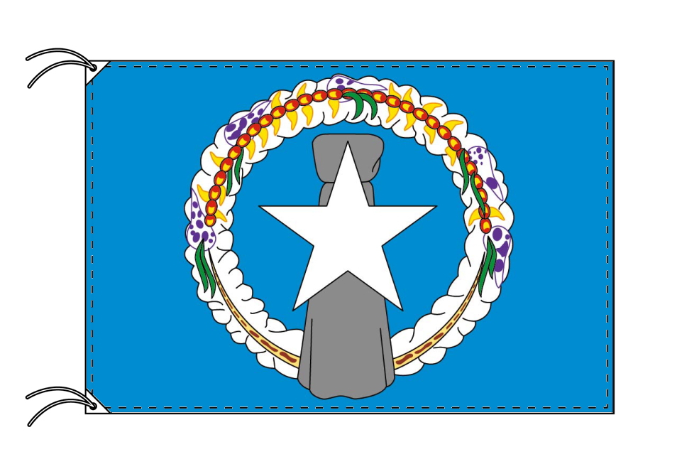 北マリアナ諸島 国旗 アメリカ領[90×135cm・高級テトロン製]受注生産