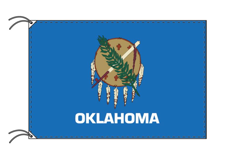 オクラホマ州旗[アメリカ合衆国の州旗・100×150cm・高級テトロン製], ハヤキタチョウ:f58c2a53 --- sunward.msk.ru
