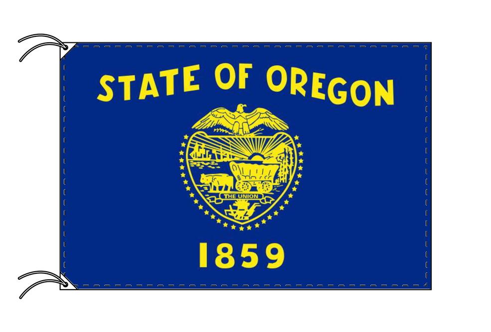 オレゴン州旗[アメリカ合衆国の州旗・100×150cm・高級テトロン製], ハスヌマムラ:0fbd2359 --- emitsubishi.ru