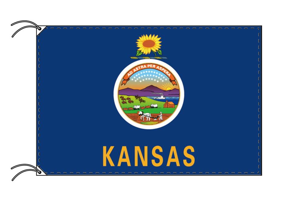 カンザス州旗[アメリカ合衆国の州旗・100×150cm・高級テトロン製]