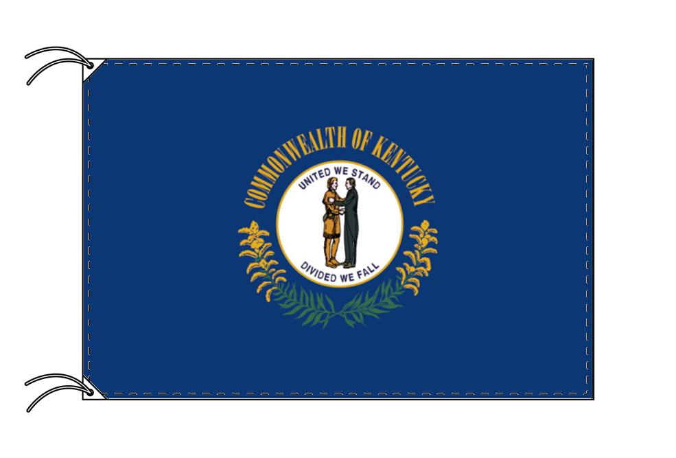 ケンタッキー州旗[アメリカ合衆国の州旗・100×150cm・高級テトロン製]