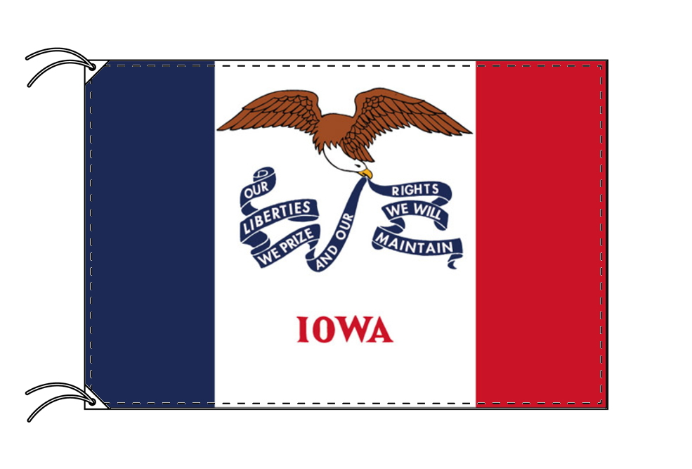 アイオワ州旗[アメリカ合衆国の州旗・100×150cm・高級テトロン製], QATARI -カタリ-:f52ca616 --- sunward.msk.ru
